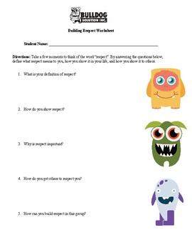 photograph relating to Free Printable Respect Worksheets titled Value Worksheet Instructors Spend Instructors