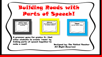Building Roads With Parts of Speech!