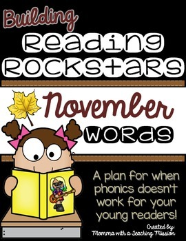 Building Rockin' Readers A Reading Plan & Activities November