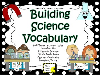 Building Science Vocabulary ~ Science Vocabulary Matching