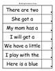 Building Sentence Strips