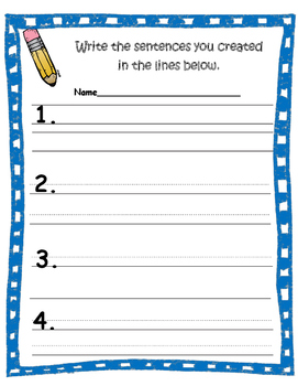 Building Sentences- A Hands on Approach to Beginning Writing