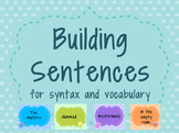 Building Sentences for syntax and vocabulary