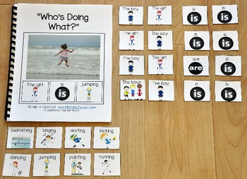 "Building Sentences Adapted Book--""Who's Doing What ?"""