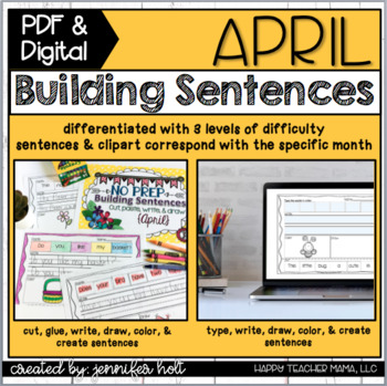 Building Sentences {April Edition}