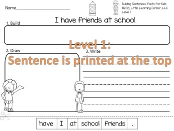 Building Sentences ~ Back to School