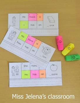 Building Sentences Cards