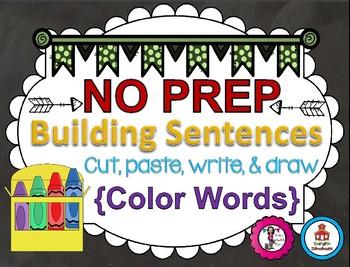 Building Sentences {Colors Edition}