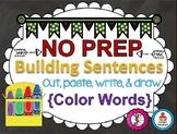 Building Sentences (Colors Edition)