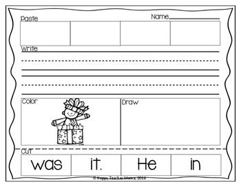 Building Sentences {December Edition}