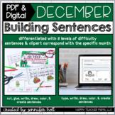 Building Sentences (December) | PDF & DIGITAL for Distance