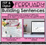 Building Sentences (February Edition)   PDF & DIGITAL for