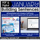 Building Sentences (January)   PDF & DIGITAL for Distance