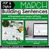 Building Sentences (March Edition)   PDF & DIGITAL for Dis