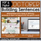 Building Sentences (October)   PDF & DIGITAL for Distance