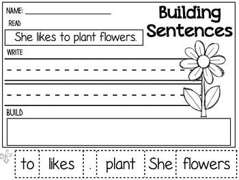 Building Sentences Packet