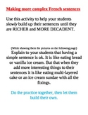 Building Sentences, Sentence Enrichment Practice work up to Richer Speaking