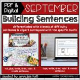 Building Sentences (September) | PDF & DIGITAL for Distanc