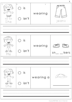 Building Sentences Set VIII - Clothes Vocabulary