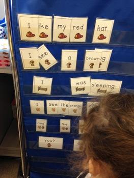 Building Sentences Sight Word Center