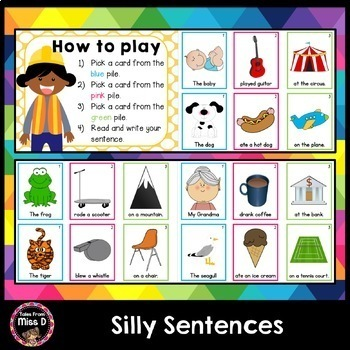 Building Sentences Silly Sentence