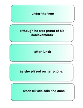 Building Sentences: Simple, compound and Complex Sentences