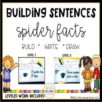 Building Sentences Spider Facts ~ Nonfiction  writing center