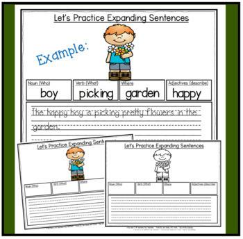 Expanding Sentences ~ Spring Edition (Nouns, Verbs, Adjectives & Setting)