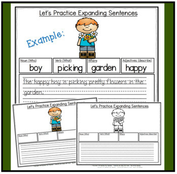 Parts of Speech: Expanding Sentences during Spring for K-2