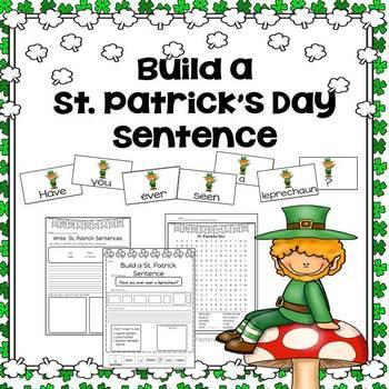 Building Sentences St. Patrick's Day