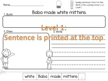 Building Sentences THE MITTEN no-prep center