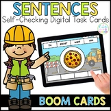 Building Sentences Task Cards | Boom Cards™ | Distance Learning