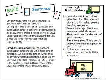 Building Sentences: Trucks! Trucks! Trucks!