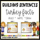 Building Sentences: Turkey Facts