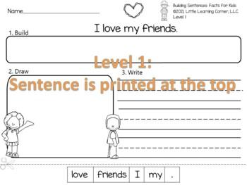 Building Sentences Valentines Day