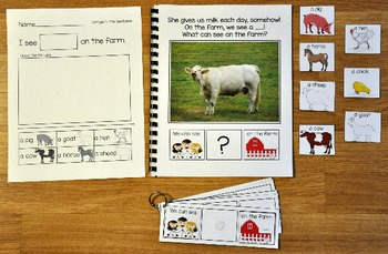 "Building Sentences--""What Can We See On The Farm?"""