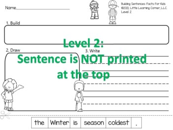 Building Sentences: Winter Facts - Reading and Writing Center