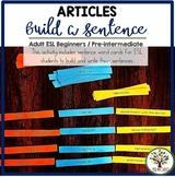 Building Sentences Word Cards Articles - ESL Adults