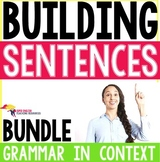 Building Sentences Word Cards ESL - Writing and Sentence S