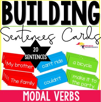 Building Sentences Word Cards Modal Verbs - ESL Adults