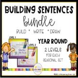 Building Sentences Year Round Writing Center Bundle