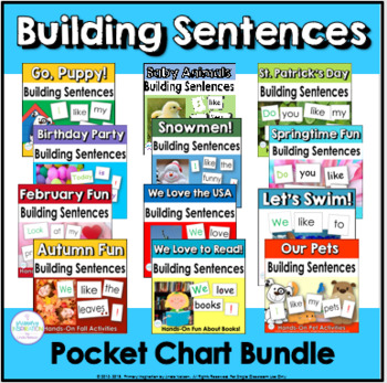 Building Sentences at the Pocket Chart ~ Bundled for Savings!
