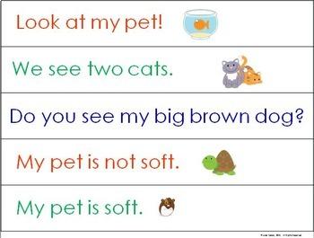 Building Sentences at the Pocket Chart ~ Our Pets