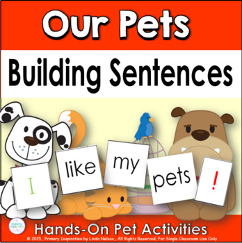 Building Sentences at the Pocket Chart ~ Our Pets