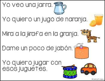 Building Sentences in Spanish (Freebie 2)