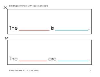 Building Sentences with Basic Concepts