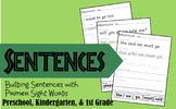 Building Sentences with Primer Sight Words (Preschool, Kindergarten, 1st grade)