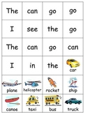 Building Sentences with See and Go