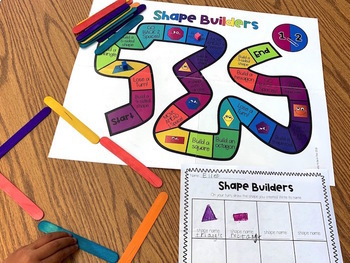 Building Shapes: Board Game to Master Flat (2D) Shapes