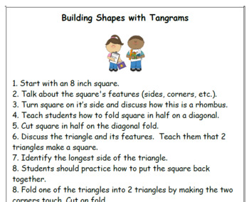 Building Shapes with Tangrams